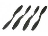 Hélices noires 8 pouces (8A & 8B) Gaui 500X