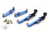 Set leviers compensateur de pas métal bleu