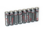 Lot de 8 piles Alkaline rouges 1.5v AA SH8