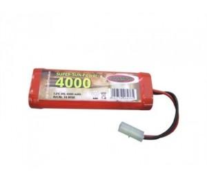 Pack accu NiMH 7,2v 4000mAh SunPower