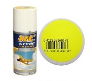 Bombe de peinture jaune fluo RC Styro (150ml)