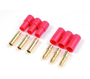 Connecteur doré 3.5 mm 3 pins (1 jeu)