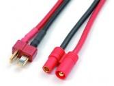 Adaptateur Deans male vers connecteur doré 3.5mm male - cable silicone 14AWG