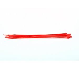 Serre-câbles 280x4.5x76mm rouge