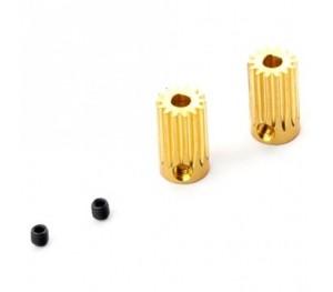 PV0833 - Pignon moteur 14 Dts (3.17mm) x2 - Mini Titan