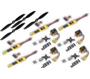 Set motorisation brushless Quadricoptère 4 bras