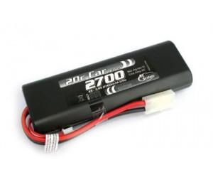 Batterie LiPo coquée 7,4V 2700mAh 20C
