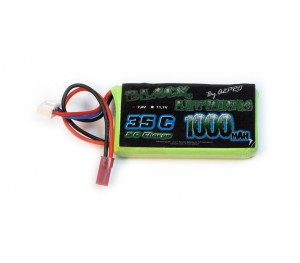 Black Lithium 1000mAh 35C 2S Bec pour hélico Nine Eagle