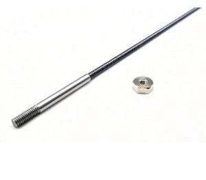 Arbre d'hélice BMI 4mm - M4 / 335mm