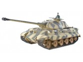 CHAR IR 2.4GHZ 1/16 KING TIGER COMPLET METAL + (BRUIT/FUMEE)