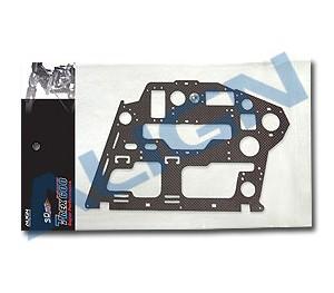 CF Châssis noir carbone (L) 1.6mm - H60067 ALIGN