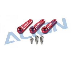 HSP61014 - Palonnier D6FJ alu simple pour servo JR (3 pcs)-  TREX 600E ALIGN
