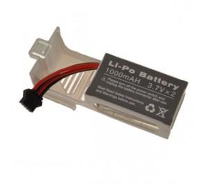 LIPO 7,4V 1000mAh + SUPPORT BLANC- U8421 LARK FPV
