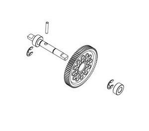 Axe de couronne centrale + couronne + roulement RC909T/RC706T