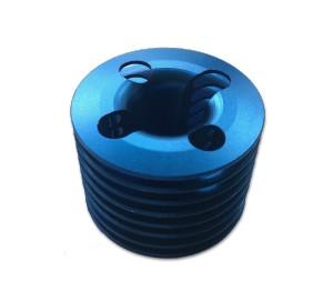 Culasse bleue anodisée moteur 15