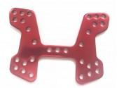 Support amortisseurs anodisé rouge XB10 Ninco