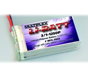 LiPo-Batt 3/1-1250P-M6 15C