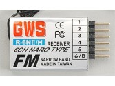 Récepteur GWS R6NII 6Ch FM Naro 41Mhz