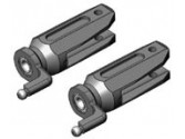 PV0803 Pieds de pales métal anodisé rouge