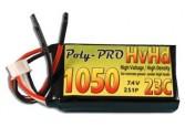 Lipo 2S HvHd 1050mA Poly-Pro 23C