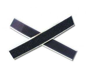 Velcro autocollant noir 25 mm