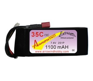 Lipo 2S 1100 mAh 35C/3C Arrowind