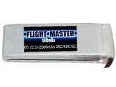 LicoO2 Flight Master 6s 2200 mAh 25C