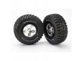 Paire pneus Picots/barres + jantes 1/8