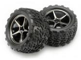 Jantes + pneus montés Traxxas E-Revo VXL 1/16