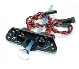 Cordon interrupteur double avec bouchon de remplissage